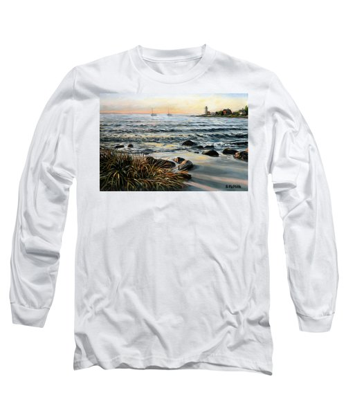 Annisquam Beach And Lighthouse Long Sleeve T-Shirt