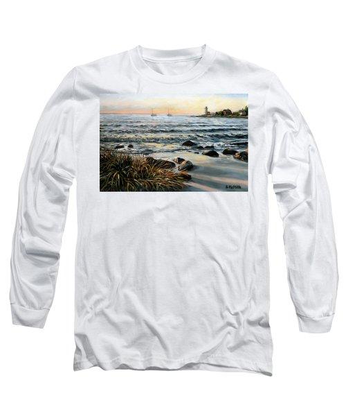 Annisquam Beach And Lighthouse Long Sleeve T-Shirt