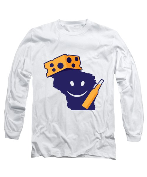 Another Wisconsin Tailgator Long Sleeve T-Shirt by Geoff Strehlow