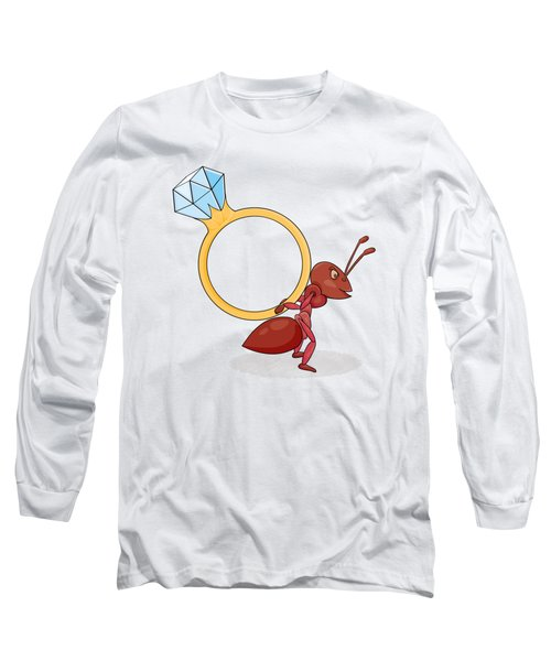 Ant With Big Ring Long Sleeve T-Shirt
