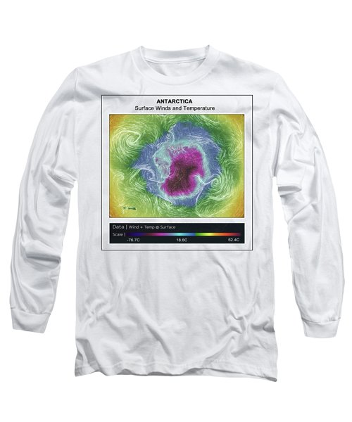 Long Sleeve T-Shirt featuring the photograph Antartica Surface Winds And Temps by Geraldine Alexander