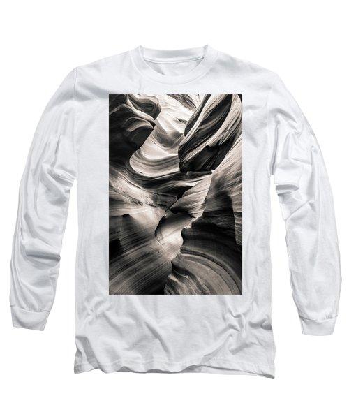 Antelope Canyon Bw Long Sleeve T-Shirt