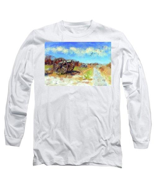 Long Sleeve T-Shirt featuring the digital art Antietam Under Blue Skies  by Lois Bryan