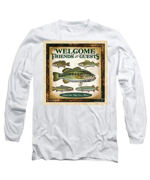 Antique Lure Fish Panel Three Long Sleeve T-Shirt by JQ Licensing Jon Q Wright