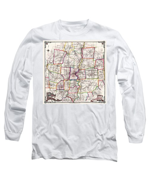 Horse Carriage Era Driving Map Of Hartford Connecticut Vicinity 1884 Long Sleeve T-Shirt