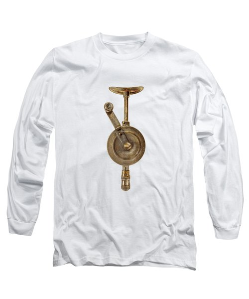 Antique Shoulder Drill Front Side Long Sleeve T-Shirt