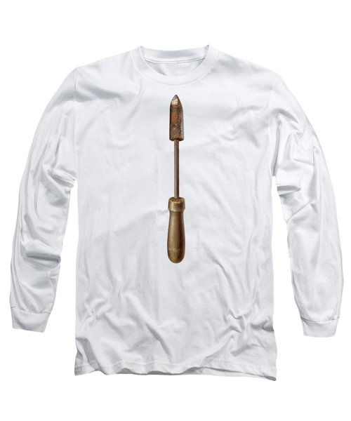 Antique Soldering Iron On Color Paper Long Sleeve T-Shirt