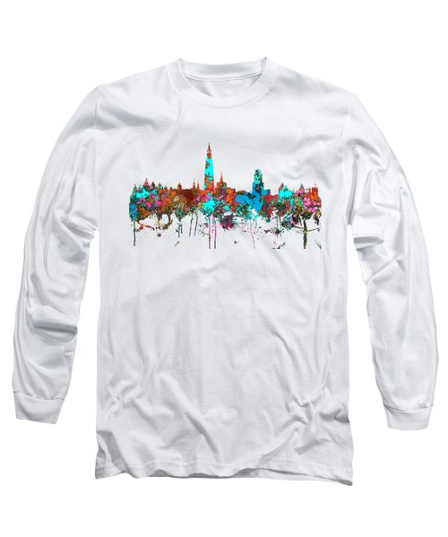 Antwerp Belgium Skyline Long Sleeve T-Shirt