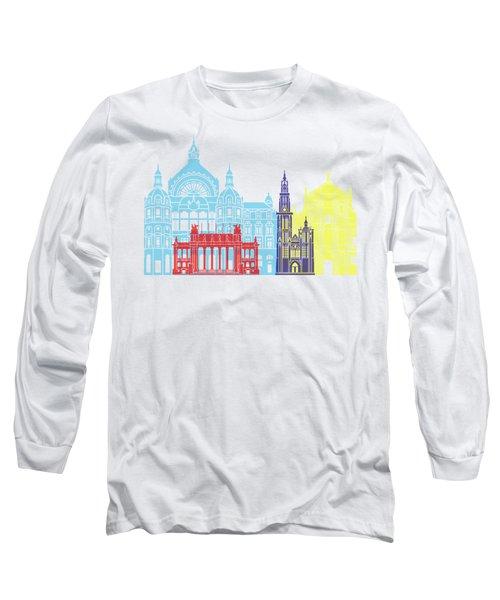 Antwerp Skyline Pop Long Sleeve T-Shirt