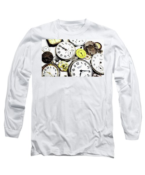 Anybody Really Know What Time It Is Long Sleeve T-Shirt by Pat Cook