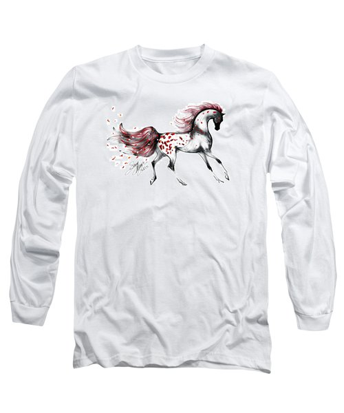 Appaloosa Rose Petals Horse Long Sleeve T-Shirt by Stacey Mayer