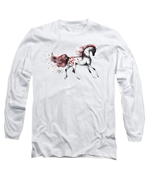 Appaloosa Rose Petals Horse Long Sleeve T-Shirt