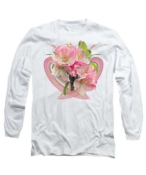 Apple Blossom Abstract Long Sleeve T-Shirt