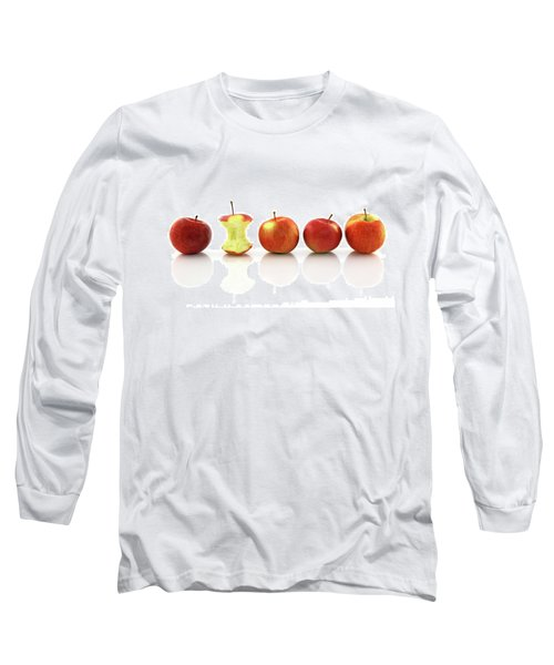 Apple Core Among Whole Apples Long Sleeve T-Shirt