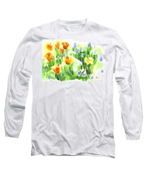 Long Sleeve T-Shirt featuring the painting April Flowers 2 by Kip DeVore