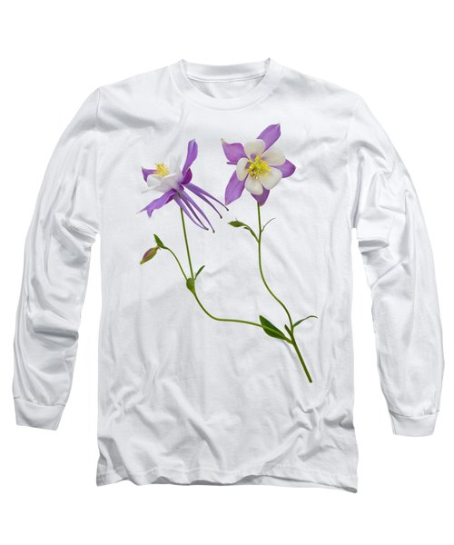 Aquilegia Specimen Long Sleeve T-Shirt by Jane McIlroy