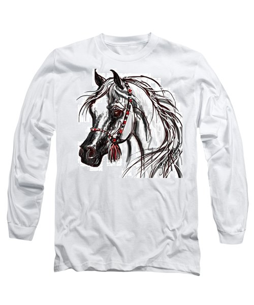 Arabian Horse Long Sleeve T-Shirt by Stacey Mayer