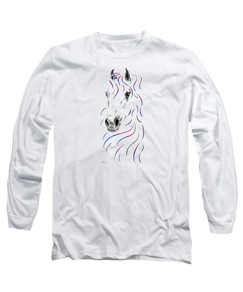 Arabian Horse Style Long Sleeve T-Shirt by Kelli Swan