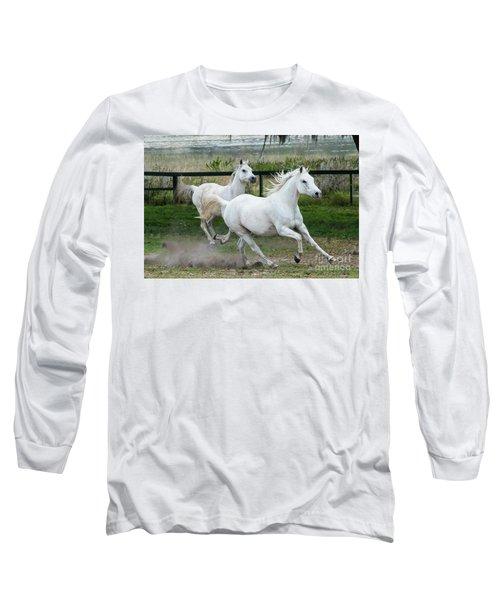 Arabian Horses Running Long Sleeve T-Shirt