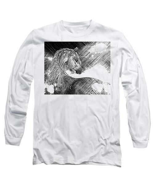 Arabian Sunrise Sketch Long Sleeve T-Shirt