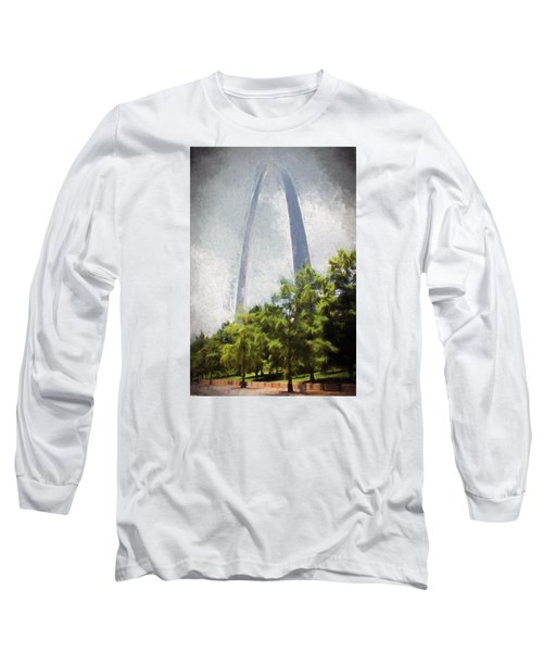 Long Sleeve T-Shirt featuring the photograph Arch And Clouds by John Freidenberg