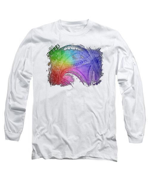 Arches Abound Cool Rainbow 3 Dimensional Long Sleeve T-Shirt