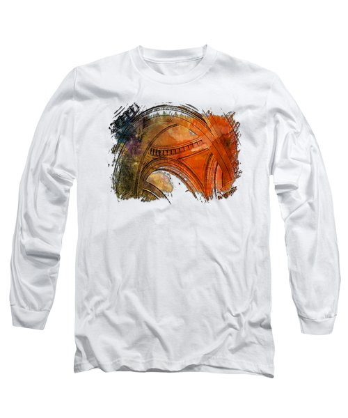 Arches Abound Earthy Rainbow 3 Dimensional Long Sleeve T-Shirt