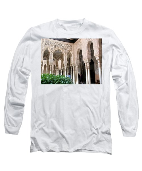Arches And Columns Granada Long Sleeve T-Shirt by Jacqi Elmslie