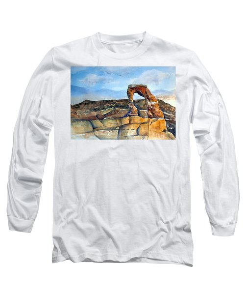 Arches National Park Long Sleeve T-Shirt by Debbie Lewis