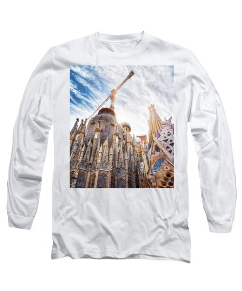 Architectural Details Of The Sagrada Familia In Barcelona Long Sleeve T-Shirt