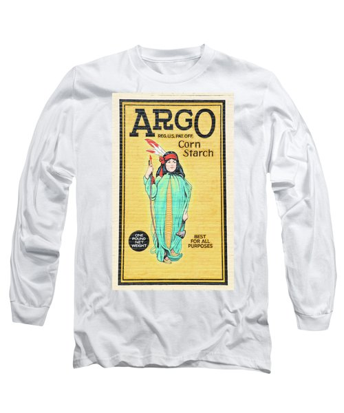 Argo Corn Starch Wall Advertising Long Sleeve T-Shirt