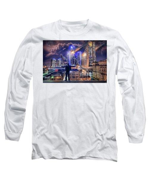 Long Sleeve T-Shirt featuring the photograph Armageddon Detroit by Nicholas Grunas