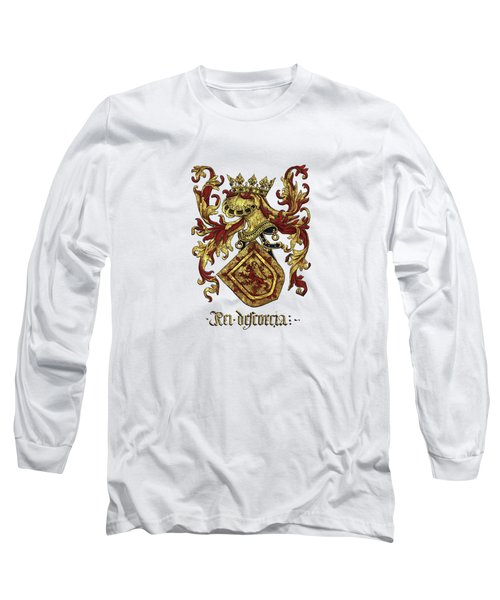 Arms Of King Of Scotland - Livro Do Armeiro-mor Long Sleeve T-Shirt