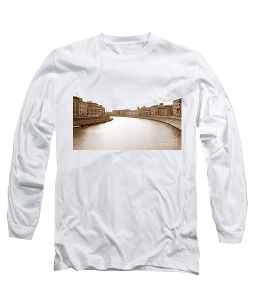 Arno River In Pisa Long Sleeve T-Shirt
