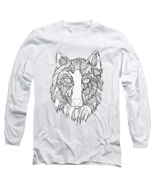 Arnou The Wolf Long Sleeve T-Shirt by Chikkas By Fran Galea