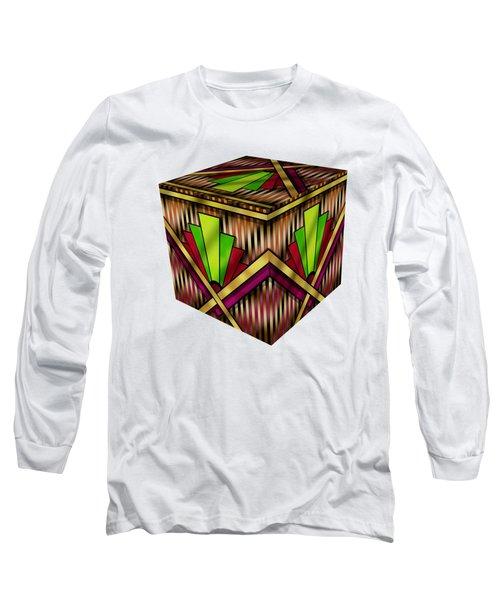 Art Deco 13 Cube Long Sleeve T-Shirt by Chuck Staley