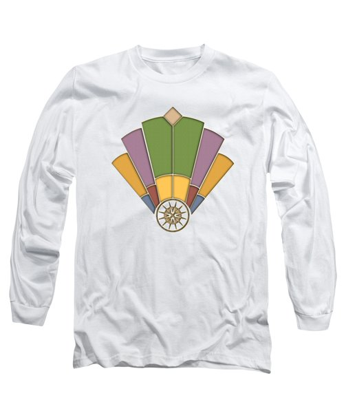 Art Deco Fan 2 Transparent Long Sleeve T-Shirt