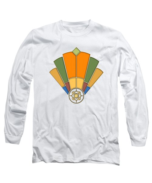 Art Deco Fan 8 Transparent Long Sleeve T-Shirt