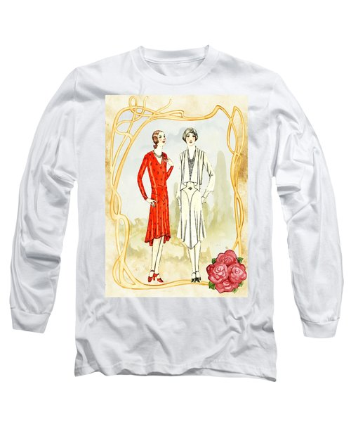 Art Deco Fashion Girls Long Sleeve T-Shirt