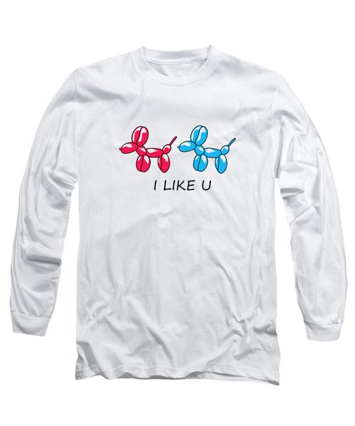 I Like You 2 Long Sleeve T-Shirt by Mark Ashkenazi