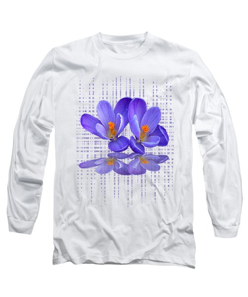 Purple Rain - Vertical Long Sleeve T-Shirt
