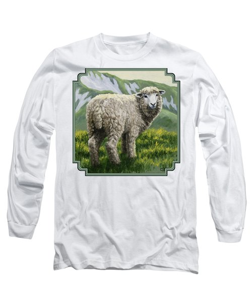 Highland Ewe Long Sleeve T-Shirt by Crista Forest