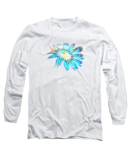 Shining Blue Flower Long Sleeve T-Shirt