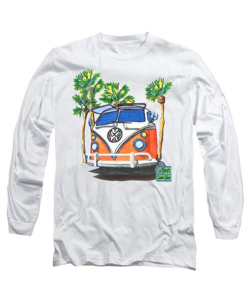 Volkswagen  Vw Bus Surfing Hippie Camper Long Sleeve T-Shirt