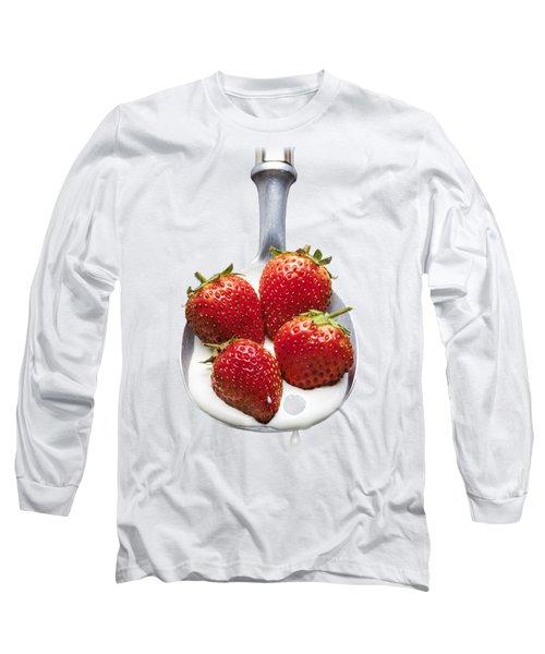 Strawberries N Cream Long Sleeve T-Shirt