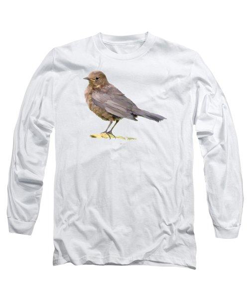 Young Blackbird  Long Sleeve T-Shirt by Bamalam  Photography