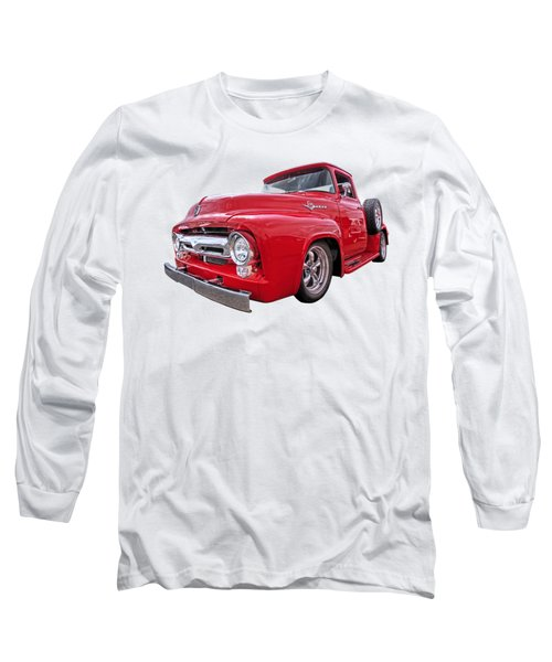 Red F-100 Long Sleeve T-Shirt