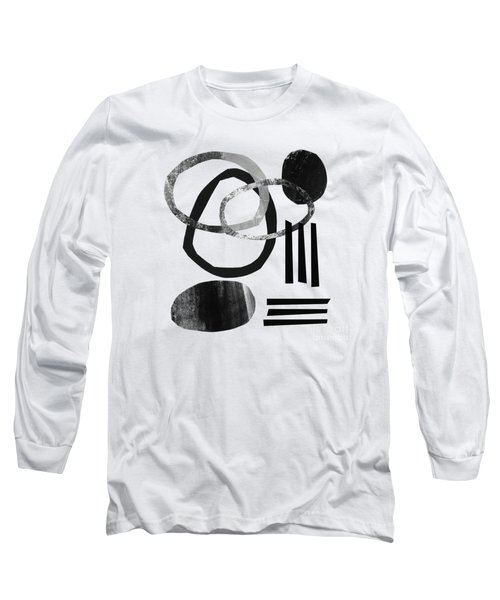 Black And White- Abstract Art Long Sleeve T-Shirt