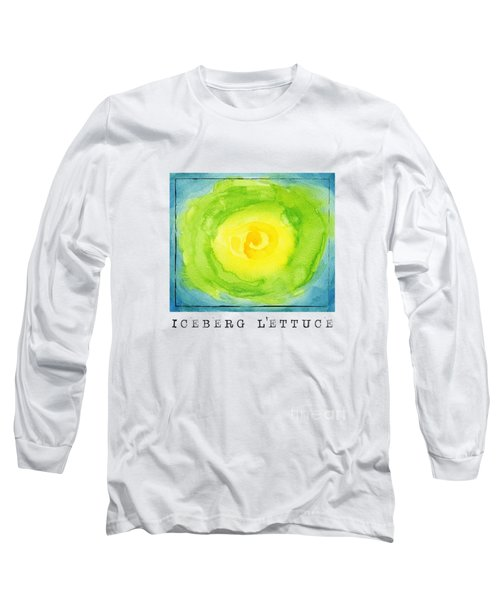 Abstract Iceberg Lettuce Long Sleeve T-Shirt by Kathleen Wong