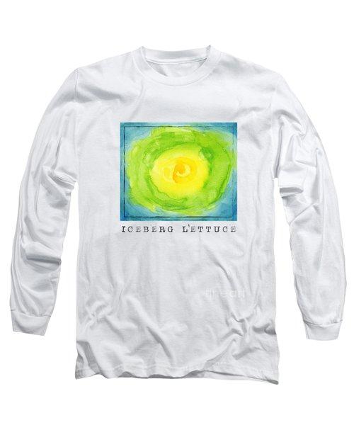 Abstract Iceberg Lettuce Long Sleeve T-Shirt